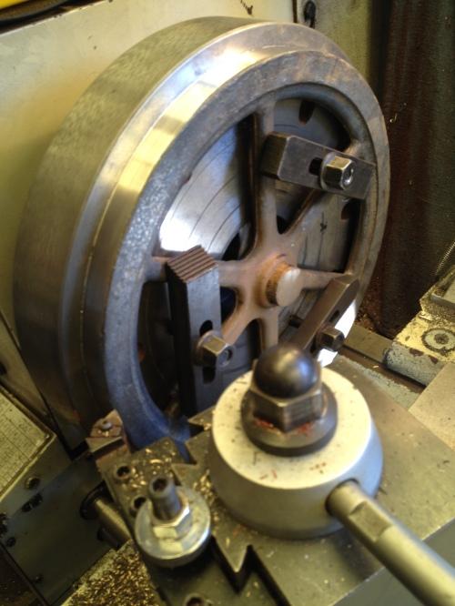 Machining the flywheel