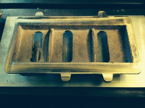 The base of the base, machined flat