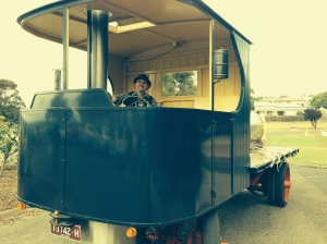 Steam truck, built by Thomas Lord.  See following videos