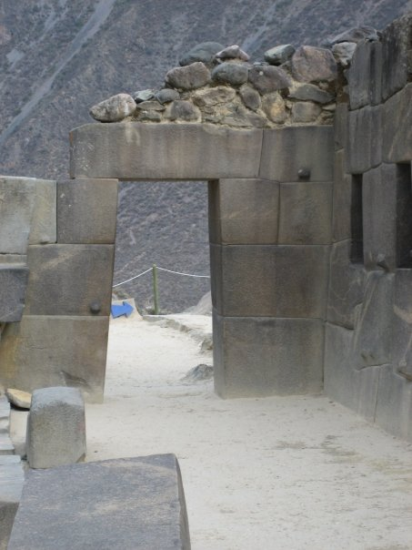 The characteristic doorway shape of the Incas.  Note the incredibly tight joints, made by non metal hand tools, which have withstood earthquakes, conquistadores, and 5 centuries of weathering.
