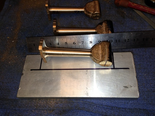 Another jig! The con rod is difficult to hold accurately for milling, so I made a jig to assist. 10mm aluminium plate, with a cut out section to accept the con rod casting.