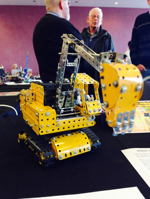 I particularly likes this working Meccano model of an excavator.  The digging action was particularly realistic.
