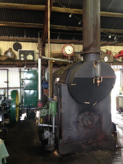 The boiler used to power the steam engines.